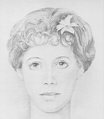 Sketch of Lillie Langtry