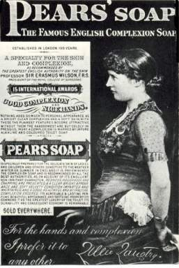 Pears Soap Advertisement featuring Lillie Langtry